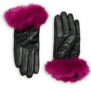 Surell 100% Leather & Faux Fur Gloves